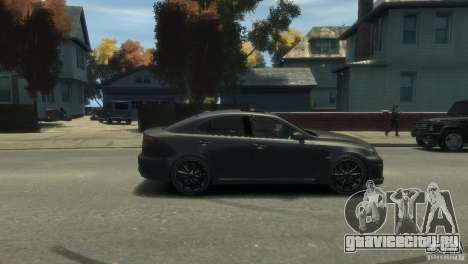 Lexus IS F для GTA 4 вид сзади