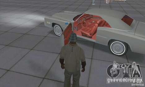 Cadillac Eldorado Convertible 1976 для GTA San Andreas вид изнутри
