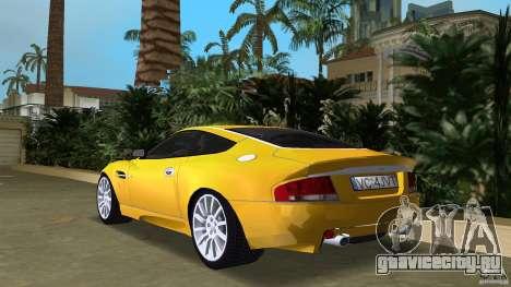 Aston Martin V12 Vanquish 6.0 i V12 48V v2.0 для GTA Vice City вид сзади слева