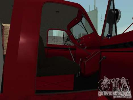 ГАЗ 51 АЦП 20 для GTA San Andreas вид изнутри