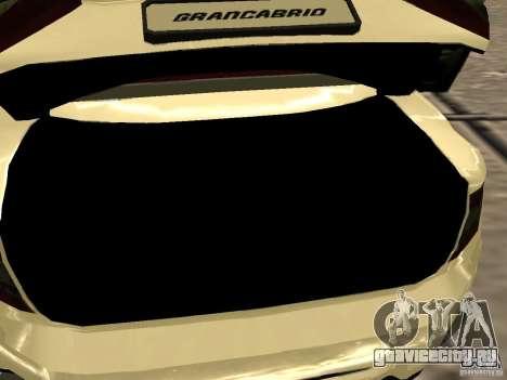 Maserati GranCabrio 2011 для GTA San Andreas вид сбоку