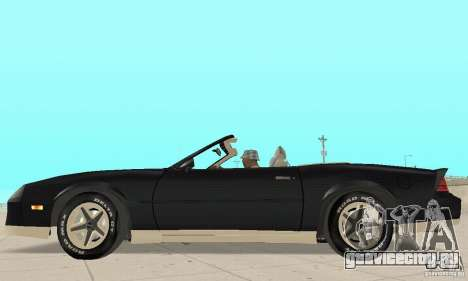 Chevrolet Camaro RS 1991 Convertible для GTA San Andreas вид сзади слева