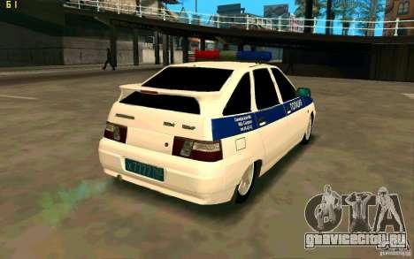 ВАЗ-2112 Полиция для GTA San Andreas вид сзади слева