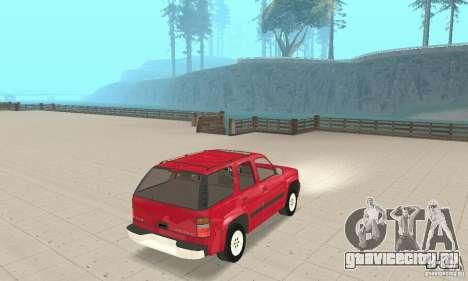 Chevrolet Tahoe 1992 для GTA San Andreas вид сзади слева