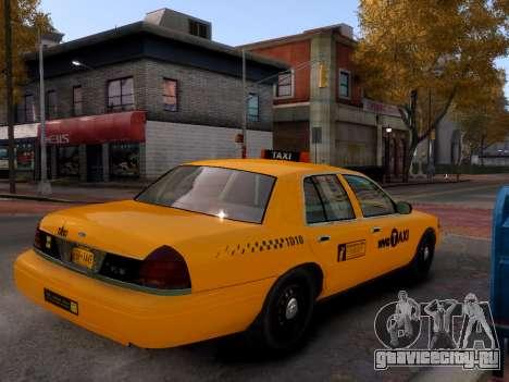 Ford Crown Victoria NYC Taxi 2013 для GTA 4 вид сзади слева