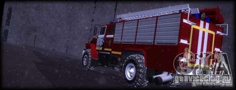 Урал 43206 АЦ 3.0-40 для GTA San Andreas вид сзади слева
