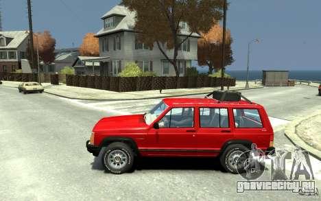 Jeep Cherokee 1984 для GTA 4 вид слева