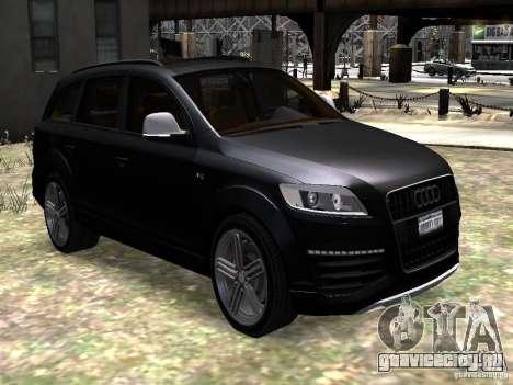 Audi Q7 V12 TDI Quattro Final для GTA 4 вид сзади
