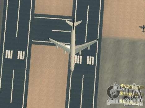 Airbus A340-300 Air Canada для GTA San Andreas вид сверху
