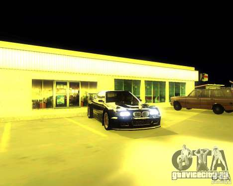 BMW E46 M3 GTR - Stock для GTA San Andreas вид сзади слева