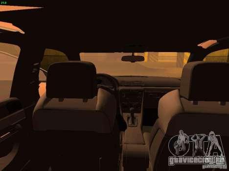 Audi S4 OEM для GTA San Andreas вид изнутри
