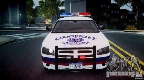 Dodge Charger Karachi City Police Dept Car [ELS] для GTA 4 вид сбоку