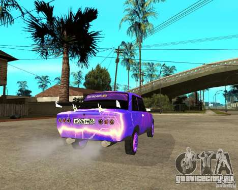ВАЗ 2101 двухдверная для GTA San Andreas вид сзади слева