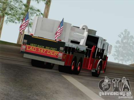 Seagrave Marauder II. SFFD Ladder 147 для GTA San Andreas вид снизу
