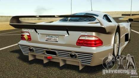 Mercedes-Benz CLK GTR AMG для GTA 4 вид сзади слева
