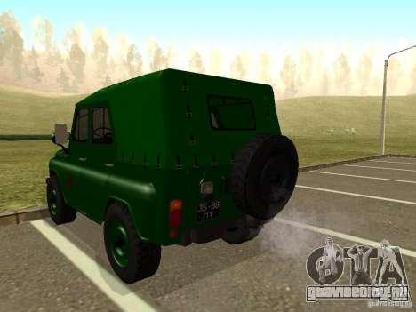 УАЗ 469 Военный для GTA San Andreas вид сзади слева