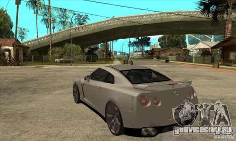 Nissan GT-R R35 2008 для GTA San Andreas вид сзади слева