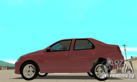 Fiat Siena HLX 1.8 Flex для GTA San Andreas вид сзади