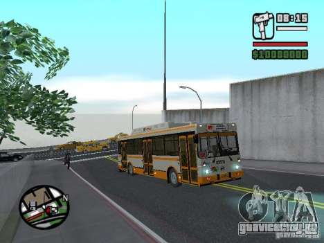 ЛИАЗ 5283.70 для GTA San Andreas вид сзади