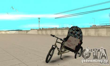 Manual Rickshaw v2 Skin3 для GTA San Andreas
