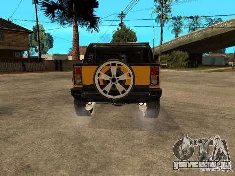Hummer H2 4x4 diesel для GTA San Andreas вид справа