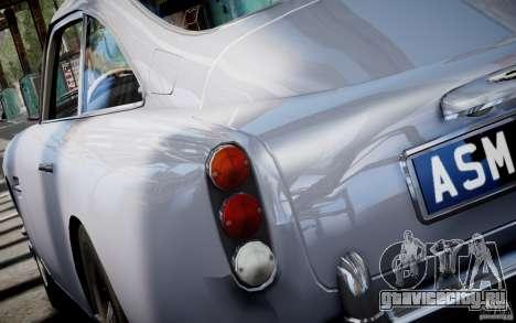 Aston Martin DB5 1964 для GTA 4 вид слева