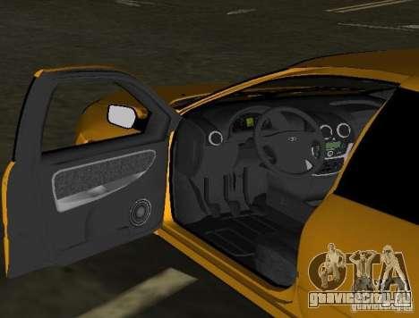 Lada Granta v2.0 для GTA Vice City вид изнутри