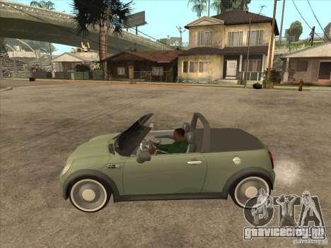 Mini Cooper S Cabrio для GTA San Andreas вид сзади слева