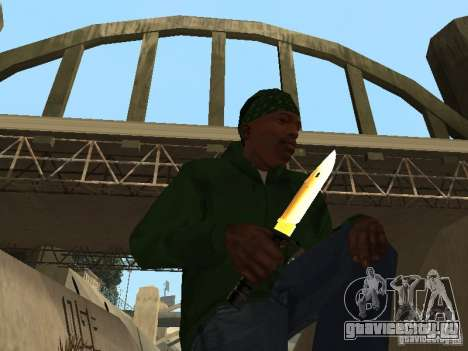 Пак золотого оружия для GTA San Andreas третий скриншот