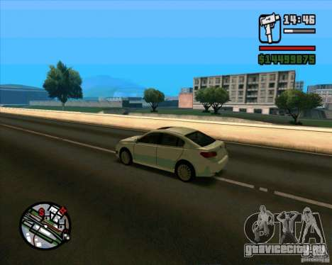 Subaru Legacy 2010 v.2 для GTA San Andreas вид сзади слева
