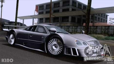 Mercedes-Benz CLK GTR Road Carbon Spoiler для GTA San Andreas вид изнутри