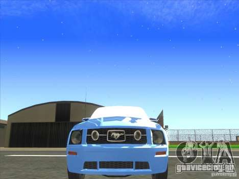 Ford Mustang Pony Edition для GTA San Andreas вид изнутри