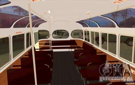 ПАЗ 672 для GTA San Andreas вид изнутри