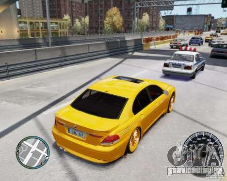 BMW Alpina B7 для GTA 4 вид изнутри