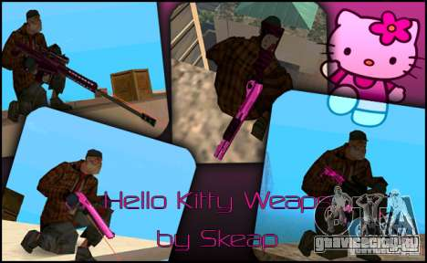 Hello Kitty weapon для GTA San Andreas