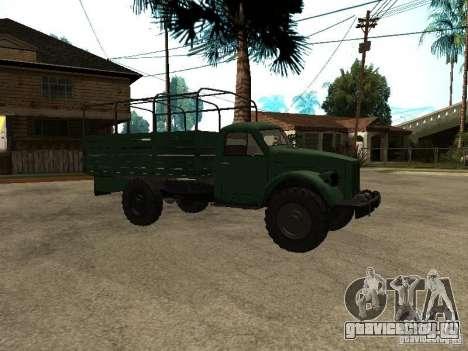 ГАЗ 63А для GTA San Andreas вид сзади слева