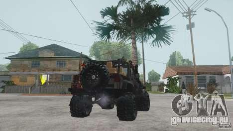 Jeep Wrangler Off road v2 для GTA San Andreas вид сзади слева