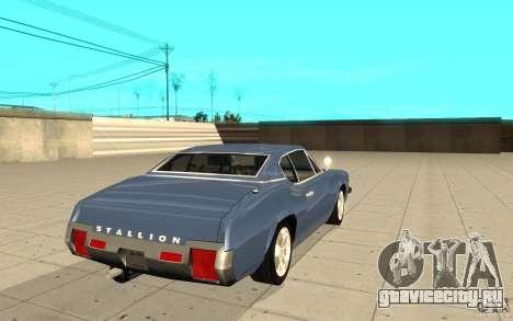 Stallion из GTA 4 для GTA San Andreas вид сзади слева