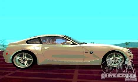 BMW Z4 E85 M для GTA San Andreas вид сзади