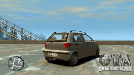 Daewoo Matiz Style 2000 для GTA 4 вид сзади слева