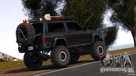 Jeep Cheeroke SE v1.1 для GTA 4 вид сзади слева