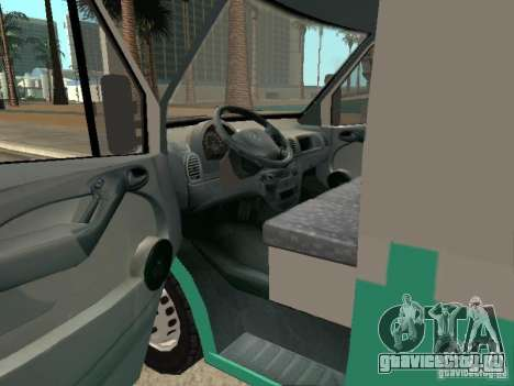 Mercedes Benz Sprinter SAME для GTA San Andreas вид сзади слева