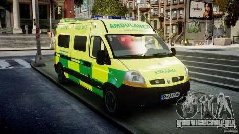 Renault Master 2007 Ambulance Scottish [ELS] для GTA 4 вид сзади