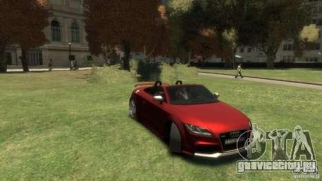 Audi TT RS Roadster для GTA 4 вид справа