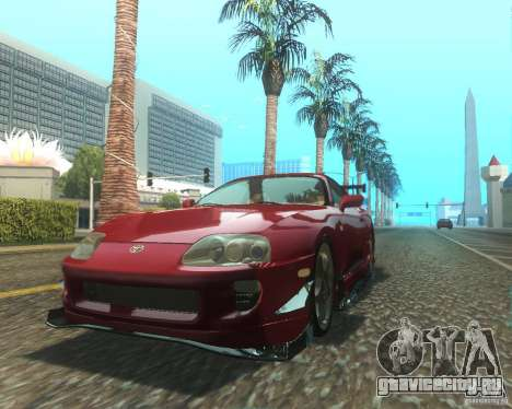 Toyota Supra Light Tuned для GTA San Andreas вид слева