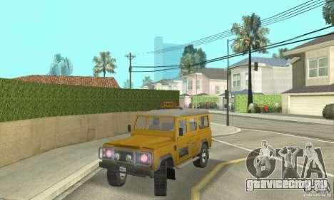 Land Rover Defender 110SW Taxi для GTA San Andreas