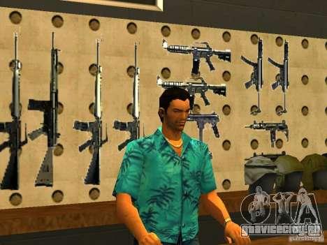 Tommy Vercetti в AMMU-NATION для GTA San Andreas