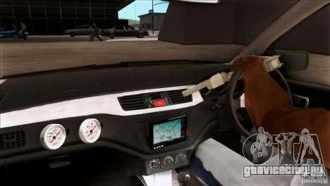Mitsubishi Lancer Evo VII 2F2F для GTA San Andreas вид изнутри