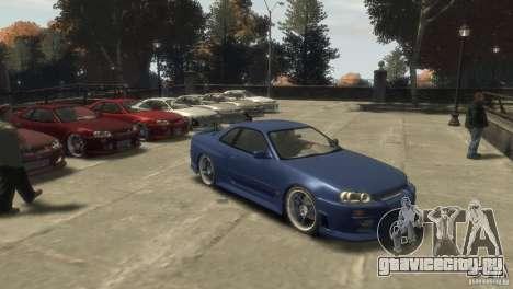 Nissan Skyline R-34 для GTA 4 вид слева