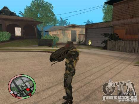 Оружие alien из Crysis 2 v2 для GTA San Andreas четвёртый скриншот